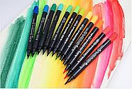 Набор двусторонних акварельных маркеров на водной основе STA 24 цвета (B141019) маркеры для художников, фото 4