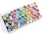 Набор двусторонних спиртовых маркеров 60 цветов Rich New, профессиональные фломастеры 60 штук для дизайнеров, фото 6