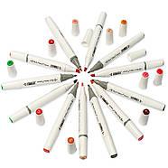 Набор двусторонних спиртовых маркеров 60 цветов Rich New, профессиональные фломастеры 60 штук для дизайнеров, фото 8