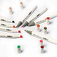 Набор двусторонних спиртовых маркеров 60 цветов Rich New, профессиональные фломастеры 60 штук для дизайнеров, фото 9