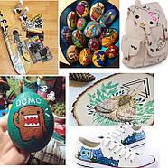 Маркери для дизайнерів, Набір різнокольорових акрилових маркерів 12 шт для малювання по тканині, склу, дереву, фото 6