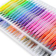 Великий набір маркерів 100 кольорів для малювання і скетчинга, двосторонні маркери на водній основі, фото 2
