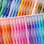 Великий набір маркерів 100 кольорів для малювання і скетчинга, двосторонні маркери на водній основі, фото 3