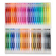 Великий набір маркерів 100 кольорів для малювання і скетчинга, двосторонні маркери на водній основі, фото 5