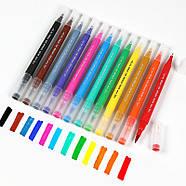 Великий набір маркерів 100 кольорів для малювання і скетчинга, двосторонні маркери на водній основі, фото 6