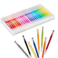 Великий набір маркерів 100 кольорів для малювання і скетчинга, двосторонні маркери на водній основі, фото 9