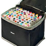 Професійні маркери для художників 80 шт Rich New, маркери спиртові двосторонні для ескізів і скетчів, фото 2