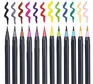 Акварельные маркеры для скетчинга с кисточкой 20 цветов, Детский набор для рисования для юного художника, фото 2