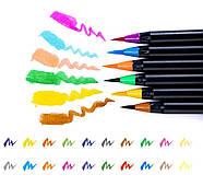 Акварельные маркеры для скетчинга с кисточкой 20 цветов, Детский набор для рисования для юного художника, фото 4