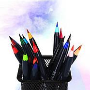 Акварельные маркеры для скетчинга с кисточкой 20 цветов, Детский набор для рисования для юного художника, фото 9