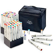 Набор маркеров Touch Multicolor для рисования и скетчинга на спиртовой основе 60 шт, Фломастеры для художников, фото 3
