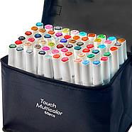 Набор маркеров Touch Multicolor для рисования и скетчинга на спиртовой основе 60 шт, Фломастеры для художников, фото 4