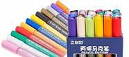 Акриловые маркеры 24 шт для холста, кожи, дерева, одежды. Набор цветных маркеров 24 цвета для рисования, фото 3