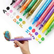 Акриловые маркеры 24 шт для холста, кожи, дерева, одежды. Набор цветных маркеров 24 цвета для рисования, фото 5