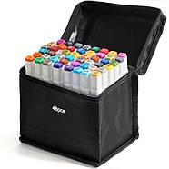 Набір двосторонніх маркерів Touch Smooth для малювання і скетчинга 40 штук, Художні маркери спиртові, фото 5