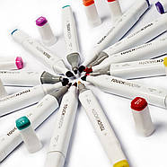 Набор двусторонних маркеров Touch Smooth для рисования и скетчинга 40 штук, Художественные маркеры спиртовые, фото 8