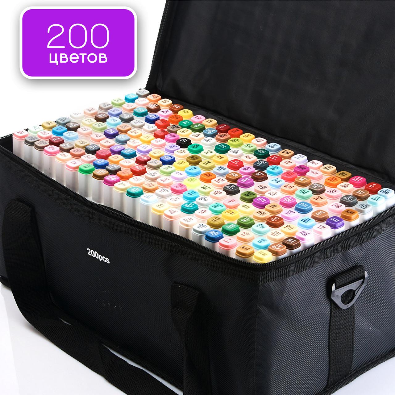 Якісні скетч маркери Touch Smooth 200 шт фломастери двосторонні спиртові для малювання і скетчинга