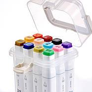 Маркеры для скетчинга 12 шт Touch для начинающих, Набор цветных спиртовых маркеров для рисования и скетчей, фото 2