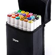 Скетч маркери Touch Smooth 24 шт фломастери двосторонні для малювання і скетчинга, Набір спиртових маркерів, фото 4