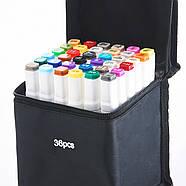 Набір двосторонніх маркерів 36 кольорів Touch Smooth Художні маркери для скетчинга для початківців, фото 3