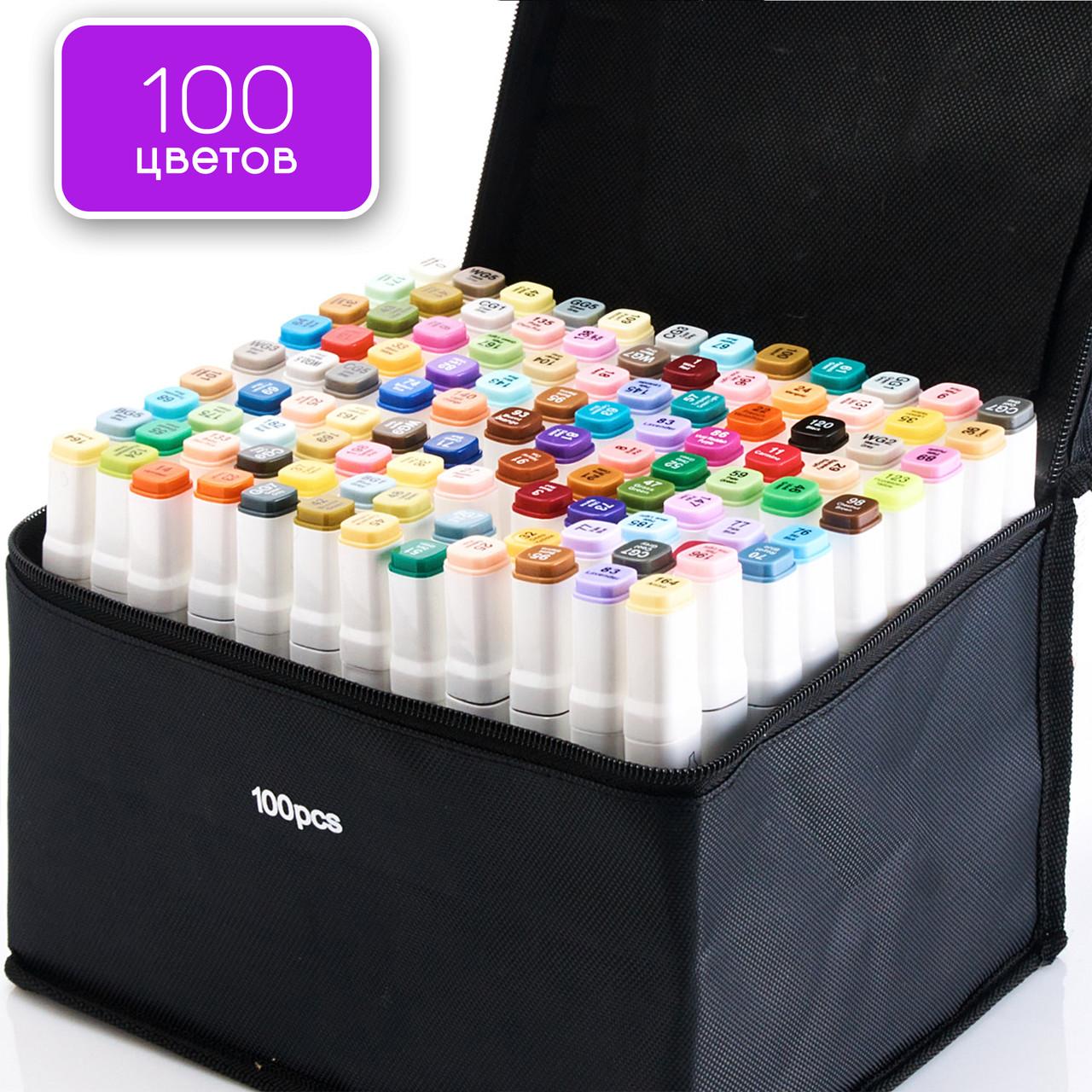 Набор двусторонних маркеров 100 шт Touch Smooth для рисования на спиртовой основе, Художественные маркеры