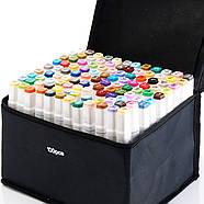 Набор двусторонних маркеров 100 шт Touch Smooth для рисования на спиртовой основе, Художественные маркеры, фото 4