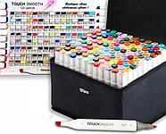 Якісні скетч маркери Touch Smooth 120 шт. Професійні двосторонні спиртові маркери для скетчинга, фото 3
