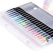 Якісні акварельні маркери з пензликом 20 кольорів, маркери двосторонні для ескізів і скетчів, фото 2