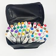 Професійні маркери 48 кольорів, набір двосторонніх спиртових маркерів Rich New для малювання і скетчинга, фото 2
