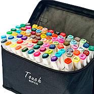 Набор спиртовых маркеров для скетчей Touch Sketch 80 шт, Художественные Двусторонние маркеры для рисования, фото 2