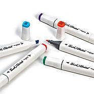 Набір спиртових маркерів для скетчів Touch Sketch 80 шт, Художні Двосторонні маркери для малювання, фото 4