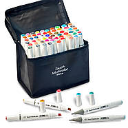 Набір для скетчів 2 в 1, художні маркери Touch Multicolor 60 шт + Скетчбук (Альбом для скетчинга А5 ), фото 4