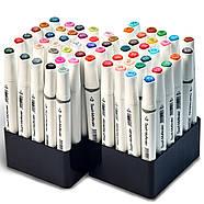 Набір для скетчів 2 в 1, художні маркери Touch Multicolor 60 шт + Скетчбук (Альбом для скетчинга А5 ), фото 6