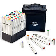 Набір для скетчів 2 в 1, Фломастери, маркери професійні Touch Multicolor 40 шт + Скетчбук А5 на 50 аркушів, фото 3