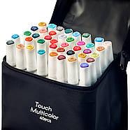 Набір для скетчів 2 в 1, Фломастери, маркери професійні Touch Multicolor 40 шт + Скетчбук А5 на 50 аркушів, фото 4