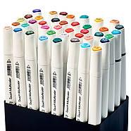Набір для скетчів 2 в 1, Фломастери, маркери професійні Touch Multicolor 40 шт + Скетчбук А5 на 50 аркушів, фото 7