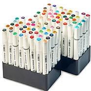 Набор профессиональных двухсторонних маркеров для скетчинга 80 цветов в чехле Touch Multicolor + Скетчбук, фото 6