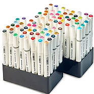 Набір фломастерів для художників, Маркери спиртові для скетчів Touch Multicolor 80 шт + скетчбук А5, фото 5