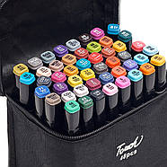 Величезний Набір скетч маркерів 48 кольорів Touch Raven для малювання, в чорному корпусі, фото 3