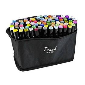 Набір скетч-маркерів 80 шт. для малювання двосторонніх Touch