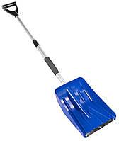 Лопата для снега телескопическая 252*335 мм L 850-1090 мм MASTERTOOL 84-0019