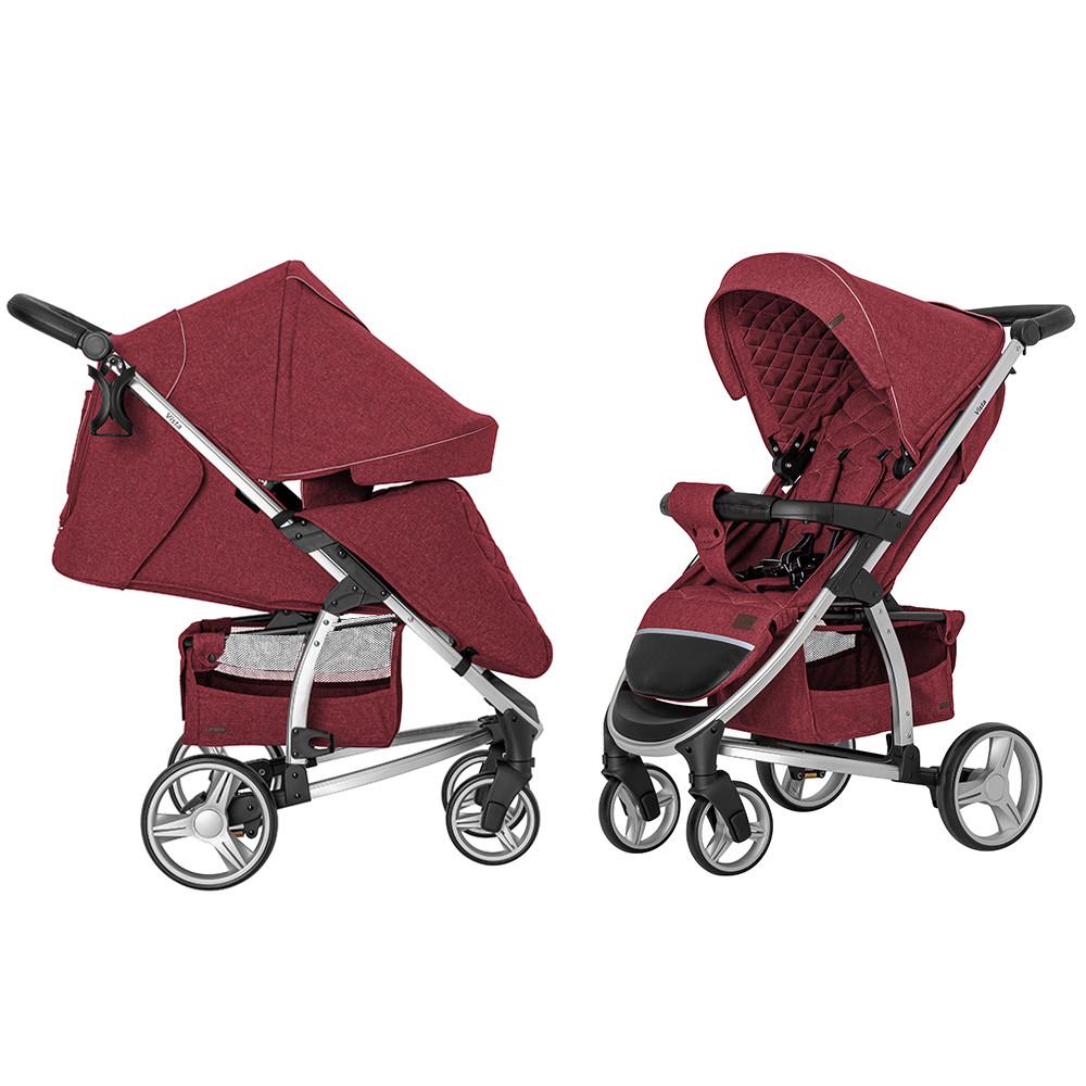 Прогулянкова коляска CARRELLO Vista CRL-8505 Ruby Red +дощовик L /1/ MOQ