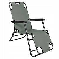 Шезлонг (крісло-лежак) для пляжу, тераси та саду Springos Zero Gravity GC0030, фото 1