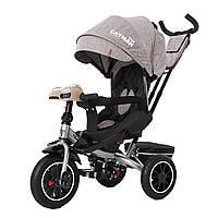 Велосипед триколісний TILLY CAYMAN з пультом і посильоною рамою T-381/7 Бежевий льон /1/
