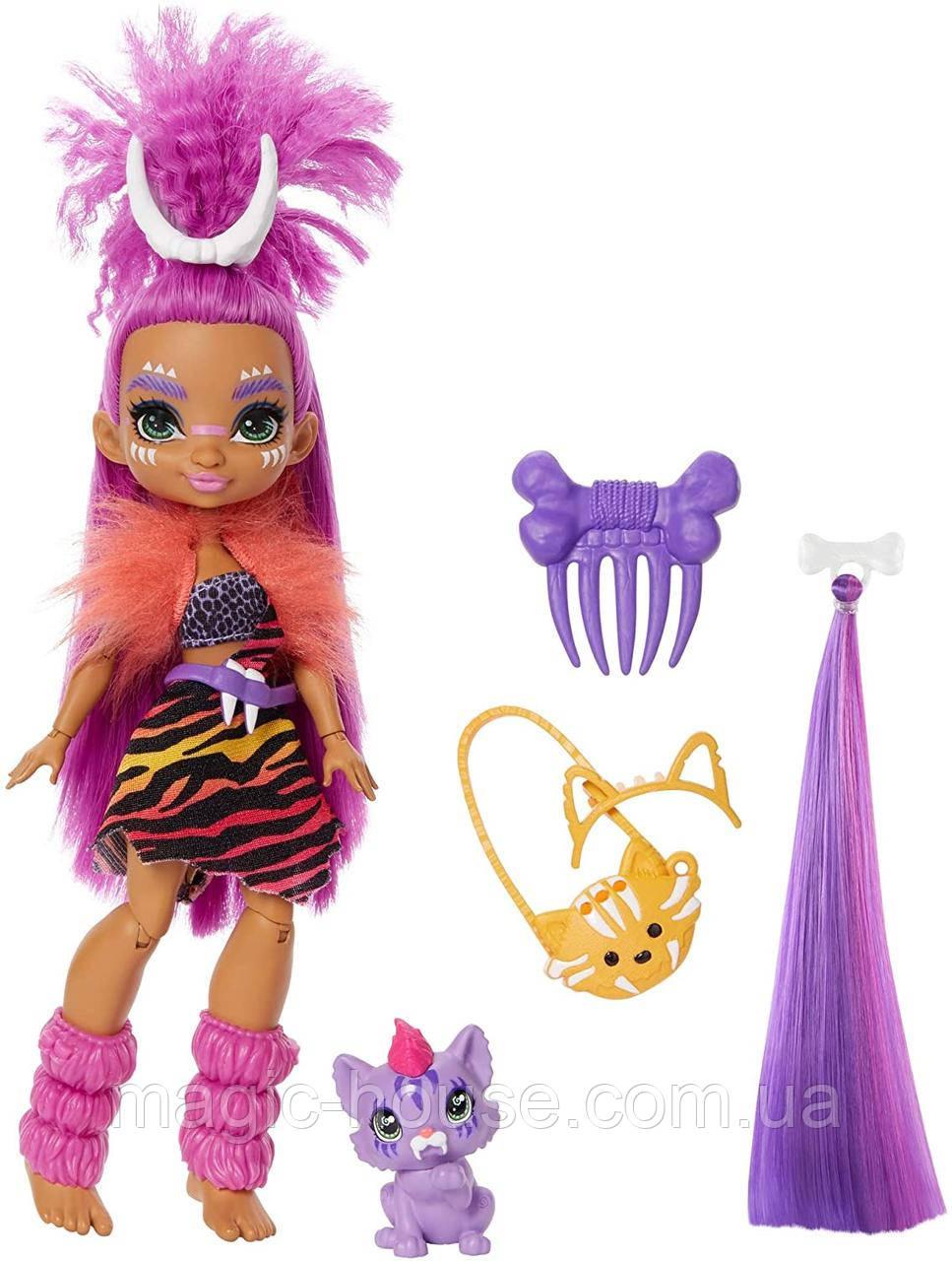 Кукла Роралея и тигренок Ферелл Пещерный клуб 25 см Cave Club Roaralai Doll Mattel