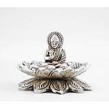 """Подставка для аромапалочек """"Будда в Лотосе"""" алюминиевая белая, фото 3"""