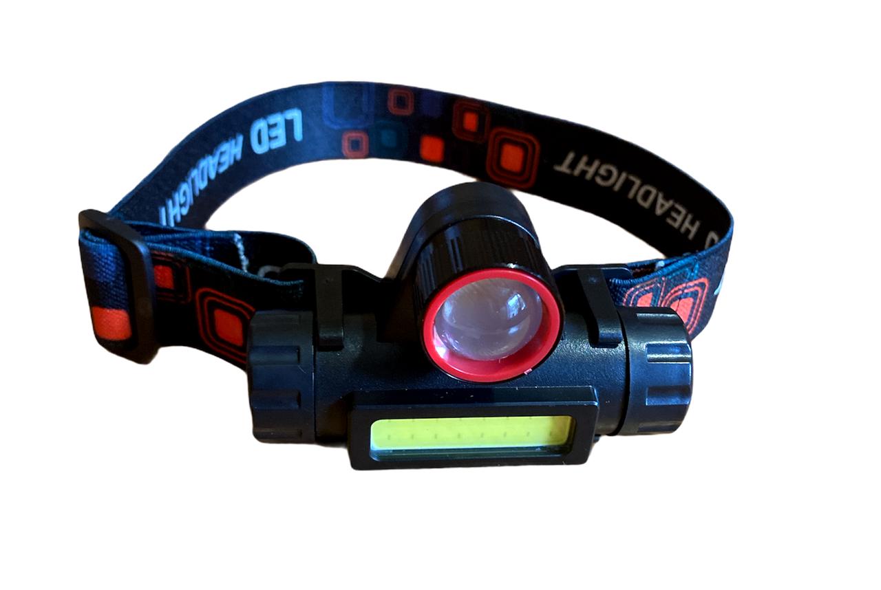 Ліхтар налобний акумуляторний 8107 Q5+СОВ+ZOOM USB зарядка
