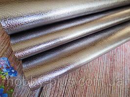 Екокожа (кожзам) глянсовий блискуча на тканинній основі, ГРАФІТ, 20х27 см