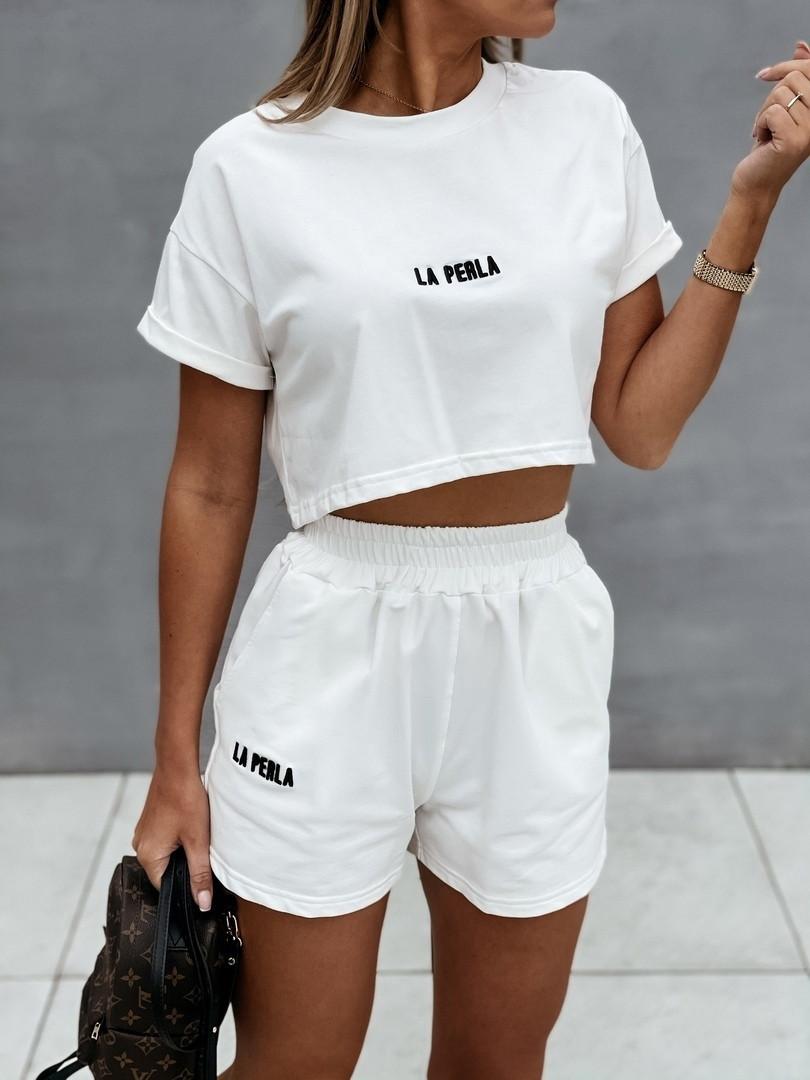 """Костюм спортивний жіночий літній з шортами """"La perla""""В І"""