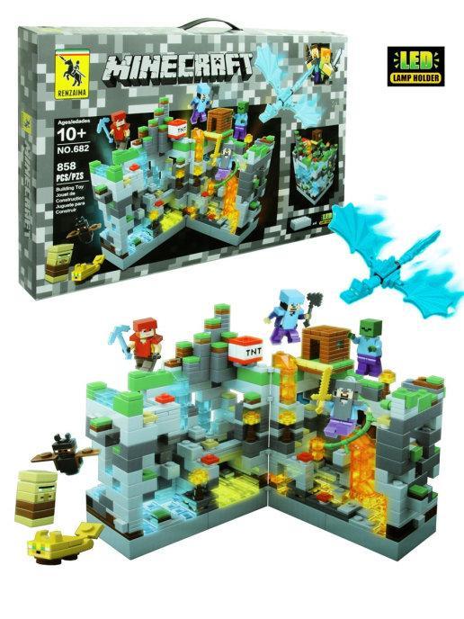 Конструктор Renzaima Minecraft 682 Нападение на серую крепость